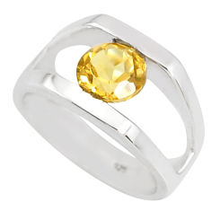 925 silver 2.63cts natural yellow citrine round solitaire ring size 5.5 r76912