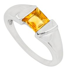 925 silver 1.11cts natural yellow citrine solitaire ring jewelry size 6.5 d39036