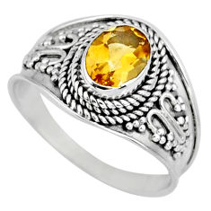 925 silver 1.96cts natural yellow citrine solitaire ring jewelry size 9 r58024