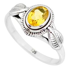 925 silver 1.49cts natural yellow citrine solitaire ring jewelry size 9 r85620