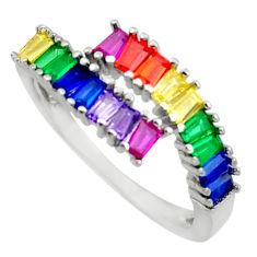 925 silver 4.91cts purple amethyst quartz sapphire (lab) ring size 8.5 c10093