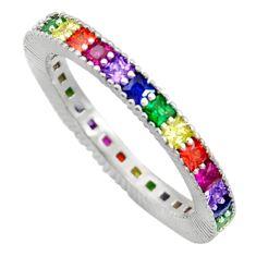 925 silver 1.94cts purple amethyst quartz sapphire (lab) ring size 6 c10084