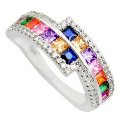 925 silver 5.87cts purple amethyst quartz sapphire (lab) ring size 8 c10200