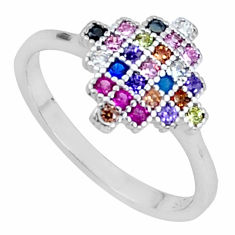925 silver 1.51cts red ruby (lab) sapphire (lab) ring size 8.5 a96298 c24933