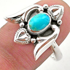 925 silver 1.57cts solitaire arizona mohave turquoise heart ring size 9 t40755