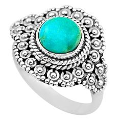 925 silver 3.14cts solitaire green arizona mohave turquoise ring size 8 t20135