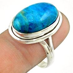 925 silver 12.83cts solitaire natural apatite (madagascar) ring size 9 t55849