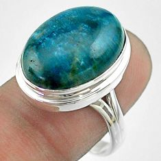 925 silver 13.77cts solitaire natural apatite (madagascar) ring size 8.5 t55856