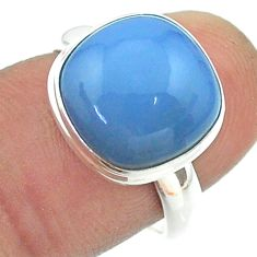 925 silver 6.57cts solitaire natural blue owyhee opal cushion ring size 7 t55107