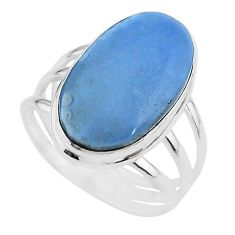 925 silver 15.16cts solitaire natural blue owyhee opal oval ring size 11 t17858