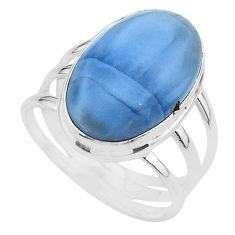 925 silver 16.70cts solitaire natural blue owyhee opal ring size 10.5 t17856