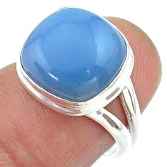 925 silver 5.94cts solitaire natural blue owyhee opal ring size 6.5 t55234