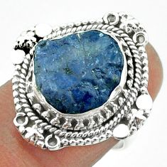 925 silver 7.63cts solitaire natural blue tanzanite rough ring size 7 t55580