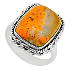 925 silver solitaire natural bumble bee australian jasper ring size 8 t15426