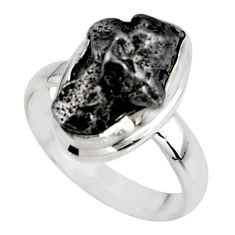 925 silver 7.12cts solitaire natural campo del cielo fancy ring size 6.5 r51281
