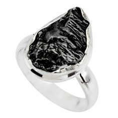 925 silver 9.97cts solitaire natural campo del cielo fancy ring size 6.5 r51284