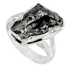 925 silver 9.99cts solitaire natural campo del cielo fancy ring size 6.5 r51288