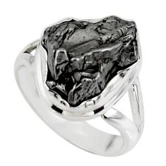 925 silver 7.63cts solitaire natural campo del cielo fancy ring size 5.5 r51293