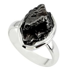 925 silver 11.66cts solitaire natural campo del cielo fancy ring size 7.5 r51299