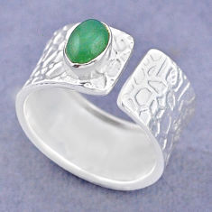 925 silver 1.62cts solitaire natural chalcedony adjustable ring size 8 t47355