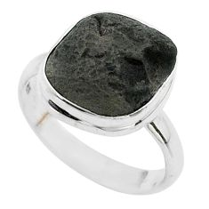 925 silver 5.87cts solitaire natural cintamani saffordite ring size 8 t58004