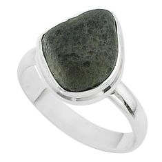 925 silver 5.87cts solitaire natural cintamani saffordite ring size 8 t58032