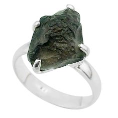 925 silver 7.17cts solitaire natural chintamani saffordite ring size 8 t58096