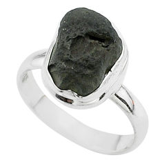 925 silver 5.58cts solitaire natural cintamani saffordite ring size 8.5 t58024