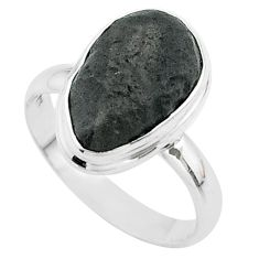 925 silver 6.36cts solitaire natural cintamani saffordite ring size 8.5 t58039
