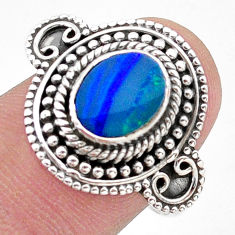 925 silver 1.79cts solitaire natural doublet opal australian ring size 8 t27411