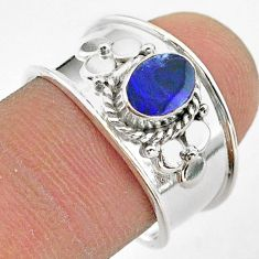 925 silver 1.09cts solitaire natural doublet opal australian ring size 8 t42289