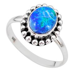 925 silver 1.30cts solitaire natural doublet opal australian ring size 9 t27316