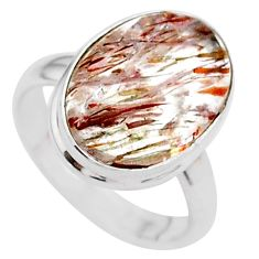 925 silver 7.89cts solitaire natural golden tourmaline rutile ring size 7 t27639