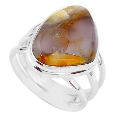 925 silver 15.97cts solitaire natural grape chalcedony ring size 9.5 t17938