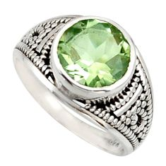 925 silver 4.69cts solitaire natural green amethyst ring jewelry size 7 r40969