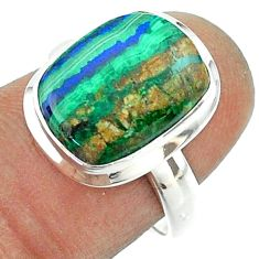 925 silver 5.63cts solitaire natural green azurite malachite ring size 7 t55571