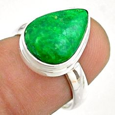 925 silver 5.11cts solitaire natural green maw sit sit pear ring size 6 t54625