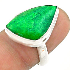 925 silver 11.66cts solitaire natural green maw sit sit ring size 8 t54658