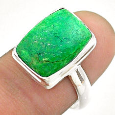 925 silver 6.04cts solitaire natural green maw sit sit ring size 7.5 t54638
