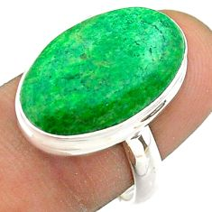 925 silver 10.78cts solitaire natural green maw sit sit ring size 7.5 t54644