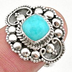 925 silver 2.69cts solitaire natural green peruvian amazonite ring size 7 t27400