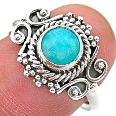 925 silver 0.91cts solitaire natural green peruvian amazonite ring size 8 t27489