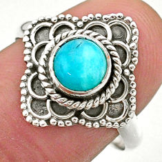 925 silver 1.20cts solitaire natural green peruvian amazonite ring size 8 t27533