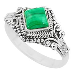 925 silver 1.41cts solitaire natural malachite (pilot's stone) ring size 9 t3618