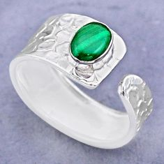 925 silver 1.42cts solitaire natural malachite adjustable ring size 8 t47314