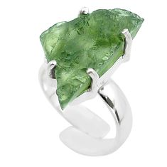 925 silver 8.53cts solitaire natural moldavite adjustable ring size 4 t50005