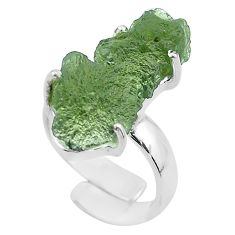925 silver 8.03cts solitaire natural moldavite adjustable ring size 4 t50010