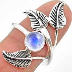 925 silver 2.81cts solitaire natural moonstone dreamcatcher ring size 8 t25196