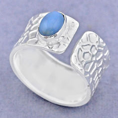 925 silver 1.46cts solitaire natural owyhee opal adjustable ring size 6.5 t47350