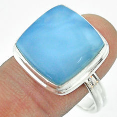925 silver 15.47cts solitaire natural owyhee opal cushion ring size 11 t54029